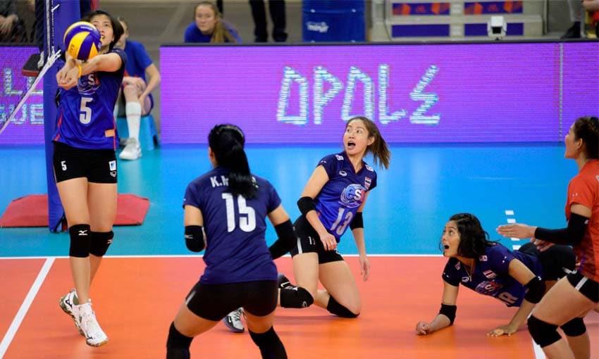 โปรแกรมนักวอลเลย์บอลหญิงทีมชาติไทยในรายการเนชันส์ ลีก